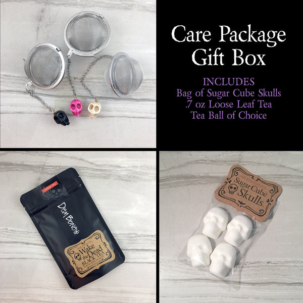 Care Package / Wake the Dead Tea, Sugar Cubes & Tea Ball