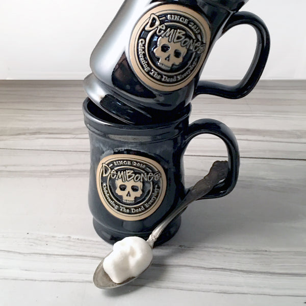 Coffee Mug Gift Set / with Skull Sugar Cubes
