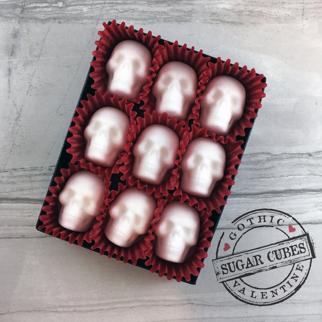 Valentine Sugar Skulls - Red & White