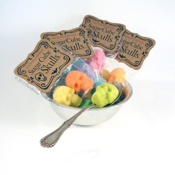 Buy SIX PACK DEAL Bagged Sugar Cube Skulls Colors from Dembones! Perfect way to set the mood for any occasion.