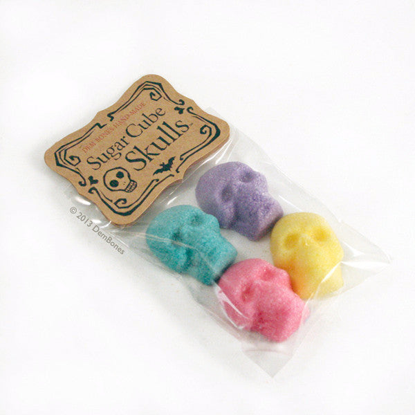 Buy Bagged Sugar Cube Skulls Colors from Dembones! Perfect way to set the mood for any occasion.