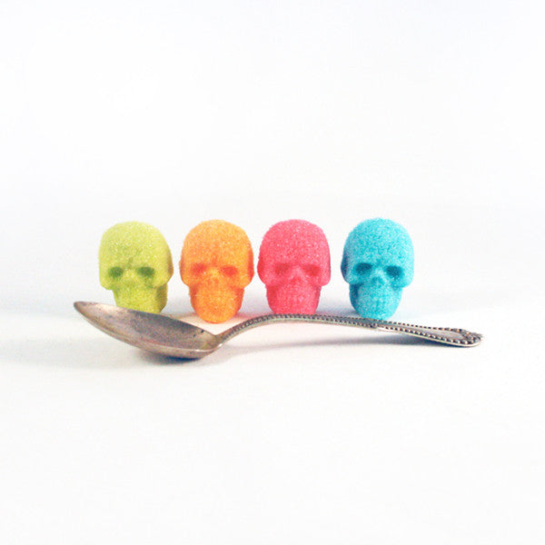 Buy Bulk Sugar Cube Skulls Colors from Dembones! Perfect way to set the mood for any occasion.