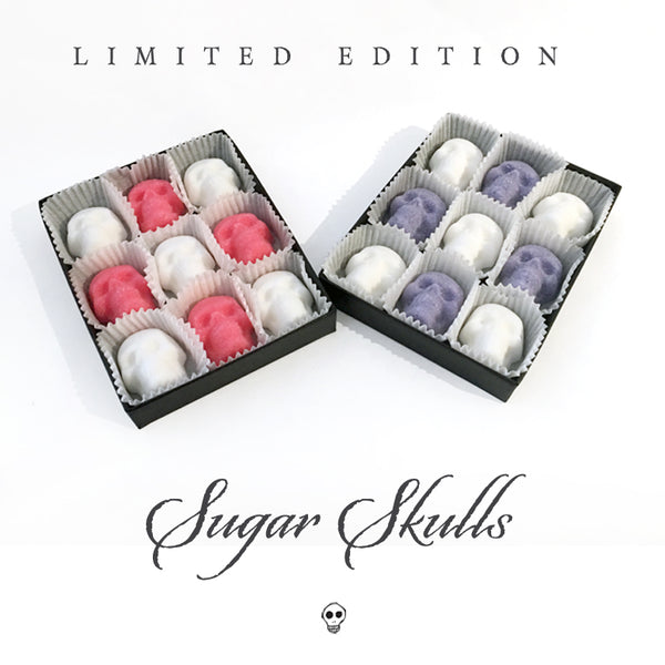 Edible Pastel Skull Sugar Cubes 9-Pack