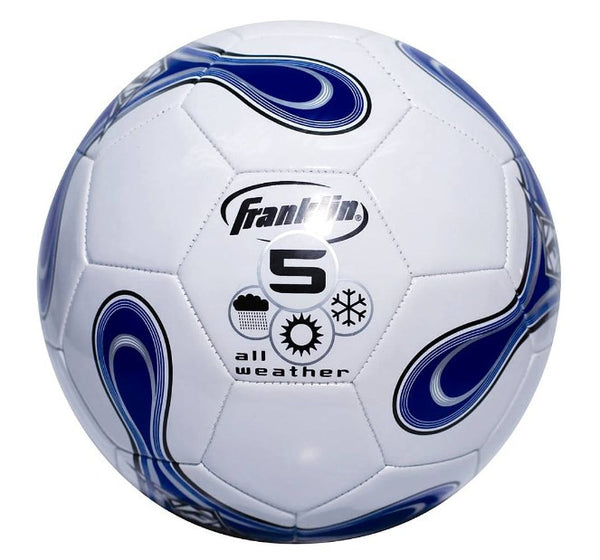 Franklin All Weather Size 5 Soccer Ball - Blue