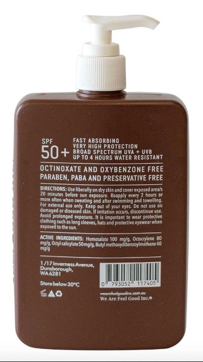 Feel Good Inc. Coconut Sunscreen Lotion SPF 50+ - 400ml