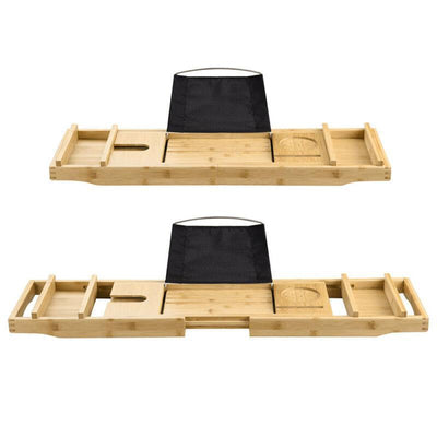 apluschoiceapluschoice Bamboo Bathtub Caddy Tray