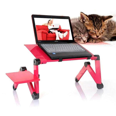 barn-37 Red Adjustable Laptop Desk With Mouse Pad