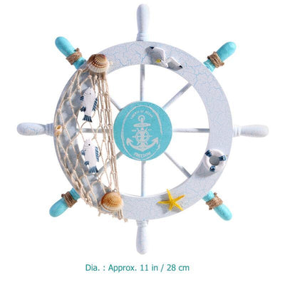 ecooldealstoreecooldealstore Wooden Captains Ship Wheel Wall Decor