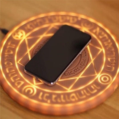 eshinesales Chargers & Cradles Brown / 5W Magic Circle Glowing Qi Charger