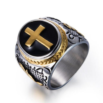 Item Hunters 11 / Gold Knight Templar Crusaders Signet Rings