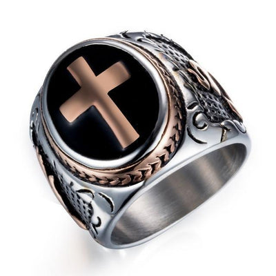 Item Hunters 11 / Rose Gold Knight Templar Crusaders Signet Rings