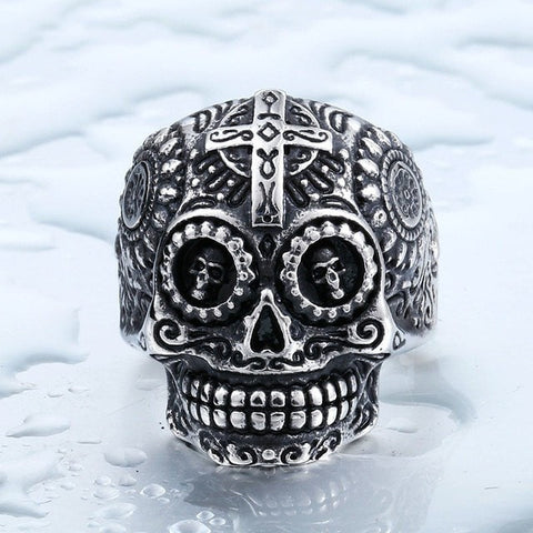 "Item Hunters 8 / silver colour / US SIZE ""The Ancient King"" Skull Ring"