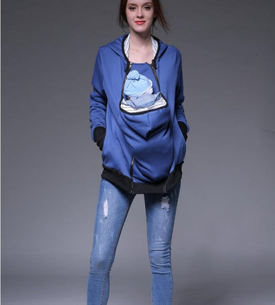 Item Hunters Kangaroo Carrier Hoodie / S / Blue Smart Mom - Multi-Function Kangaroo Hoodie