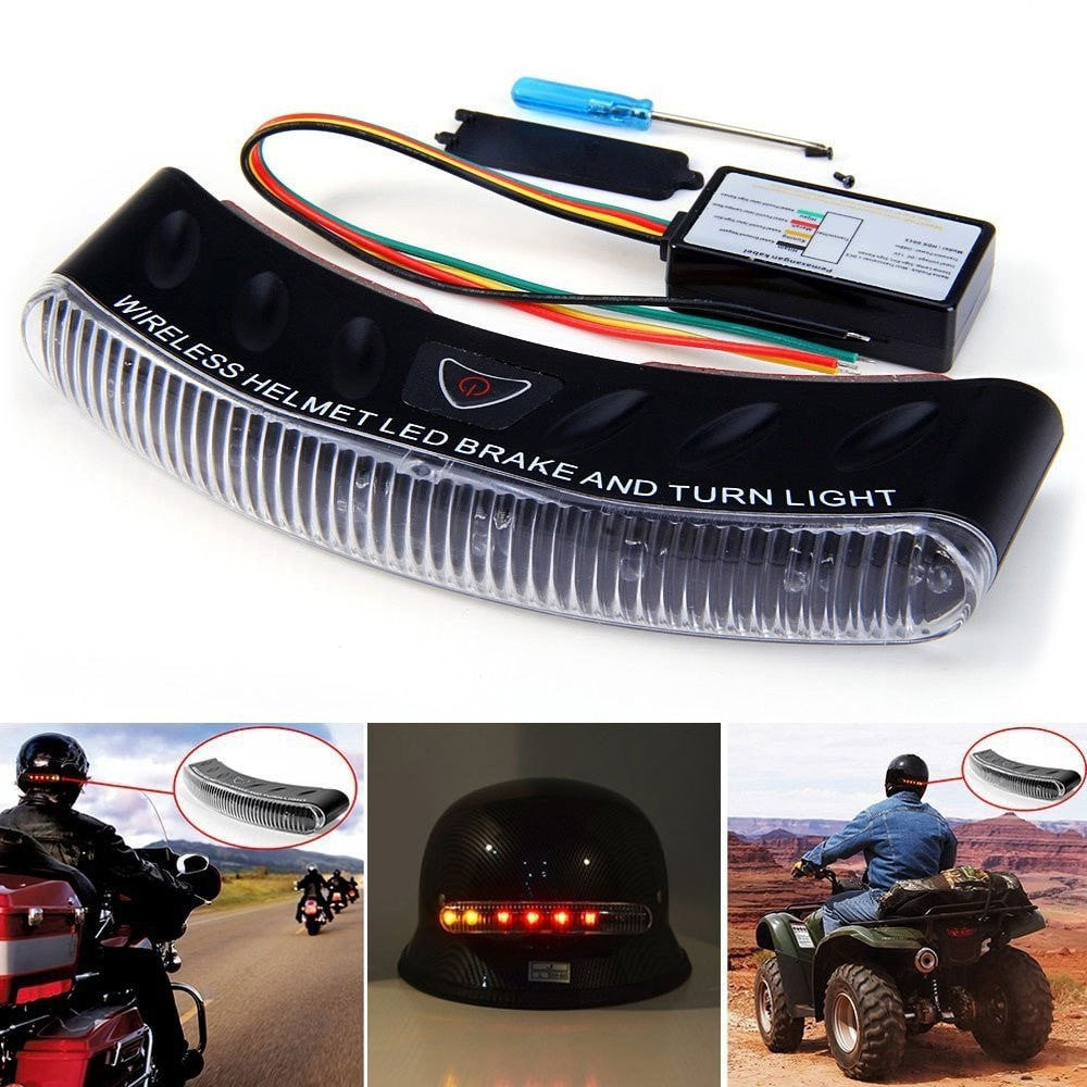 Item Hunters Wireless LED Brake And Turn Light For Helmets