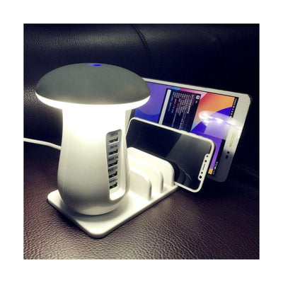 jourmine Multi-Port Fast Charging Dock & Lamp (5 PORTS)
