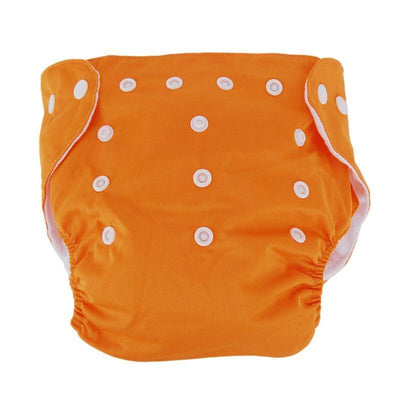 songyupeng1 Orange 5 Diapers & 5 Inserts Adjustable/Reusable Cloth Diaper