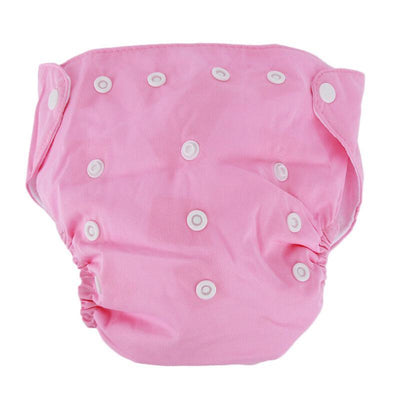 songyupeng1 Pink 5 Diapers & 5 Inserts Adjustable/Reusable Cloth Diaper