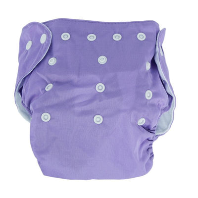 songyupeng1 Purple 5 Diapers & 5 Inserts Adjustable/Reusable Cloth Diaper