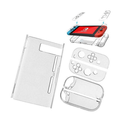 whatwears-dewhatwears-de Nintendo Switch | Premium Tempered Glass Screen Protector + Thumb Grips + Hard Case
