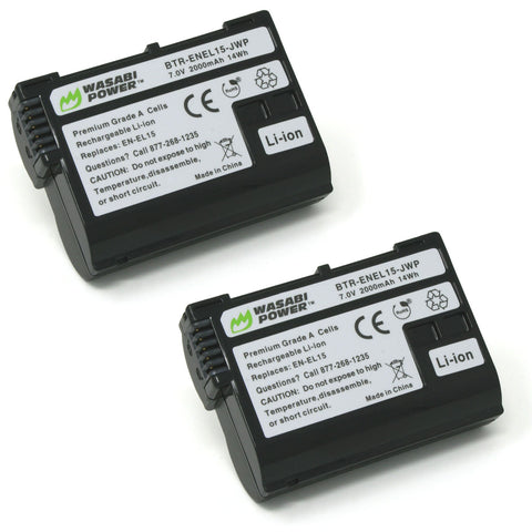 Nikon EN-EL15 Battery (2-Pack) by Wasabi Power