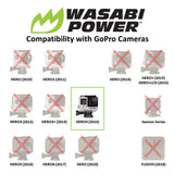 Wasabi Power Battery for GoPro HERO4 and GoPro AHDBT-401 (4-Pack)