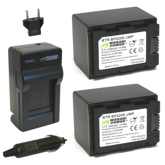 Samsung IA-BP420E Battery (2-Pack) and Charger by Wasabi Power