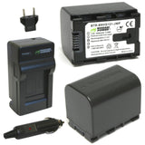 JVC BN-VG121 Battery (2-Pack) and Charger by Wasabi Power