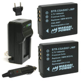 Panasonic CGA-S007, DMW-BCD10 Battery (2-Pack) and Charger by Wasabi Power
