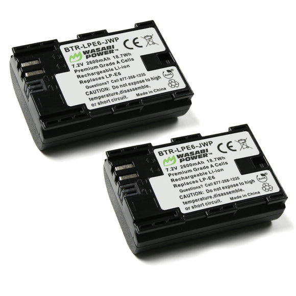 Canon LP-E6, LP-E6N Battery (2-Pack) by Wasabi Power