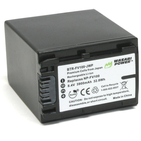 Sony NP-FV100 Battery by Wasabi Power