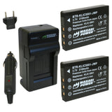 Sanyo DB-L50, DB-L50AU Battery (2-Pack) and Charger by Wasabi Power