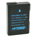 Wasabi Power Battery for Nikon EN-EL14, EN-EL14a
