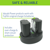 Fujifilm NP-W235 Battery (2-Pack) and Dual Charger by Wasabi Power