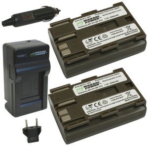 Canon BP-511, BP-511A Battery (2-Pack) and Charger by Wasabi Power