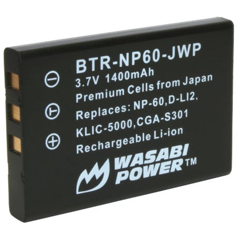 Toshiba Camileo H10, H20, P10, P20, P30, S10 Battery by Wasabi Power
