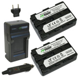 Sony NP-FM50 Battery (2-Pack) and Charger by Wasabi Power