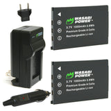AbergBest 21 Mega Pixels 2.7 LCD Rechargeable Battery (2-Pack) and Charger by Wasabi Power (20180112)