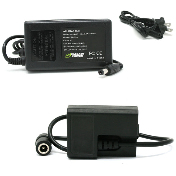 Canon LP-E10 AC Power Adapter Kit with DC Coupler for Canon ACK-E10, DR-E10, CA-PS700 by Wasabi Power