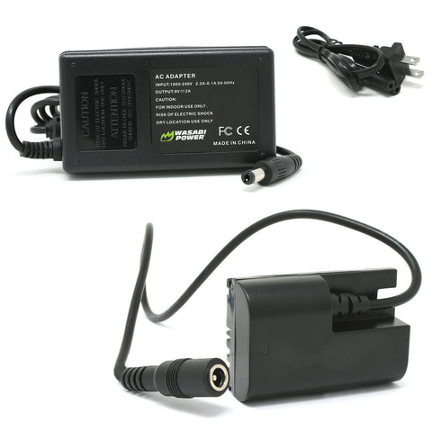 Canon LP-E6 AC Power Adapter Kit with DC Coupler for Canon ACK-E6, DR-E6, AC-E6N by Wasabi Power