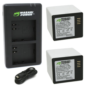 Arlo Go (VMA4410 & VMA4400C) Battery (2-Pack) and Dual Charger by Wasabi Power