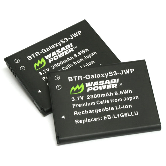 Samsung Galaxy S3 Battery (2-Pack) by Wasabi Power