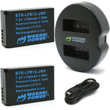 Canon LP-E12 Battery (2-Pack) and Dual Charger by Wasabi Power