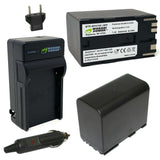 Canon BP-970G, BP-975 and RED Komodo 6K Battery (2-Pack) and Charger by Wasabi Power