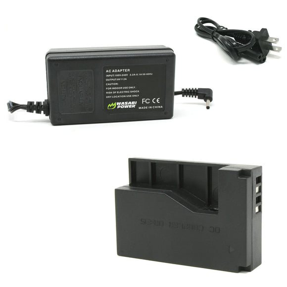 Canon LP-E12 AC Power Adapter Kit with DC Coupler for Canon ACK-E15, DR-E15, CA-PS700 by Wasabi Power