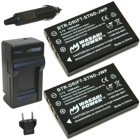 Drift DSTBAT Standard Battery (2-Pack) and Charger by Wasabi Power
