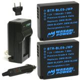 Wasabi Power Battery (2-Pack) and Charger for Panasonic DMW-BLE9, DMW-BLG10