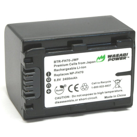 Sony NP-FH70, NP-FH60 Battery by Wasabi Power