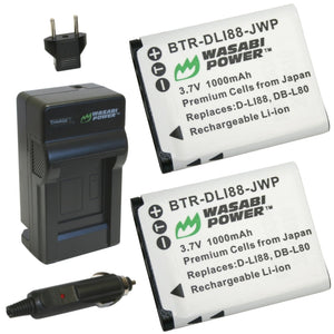 Panasonic VW-VBX070 Battery (2-Pack) and Charger by Wasabi Power