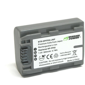 Sony NP-FP50, NP-FP30 Battery by Wasabi Power