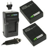 GoPro HERO3, HERO3+ Battery (2-Pack) and Charger by Wasabi Power